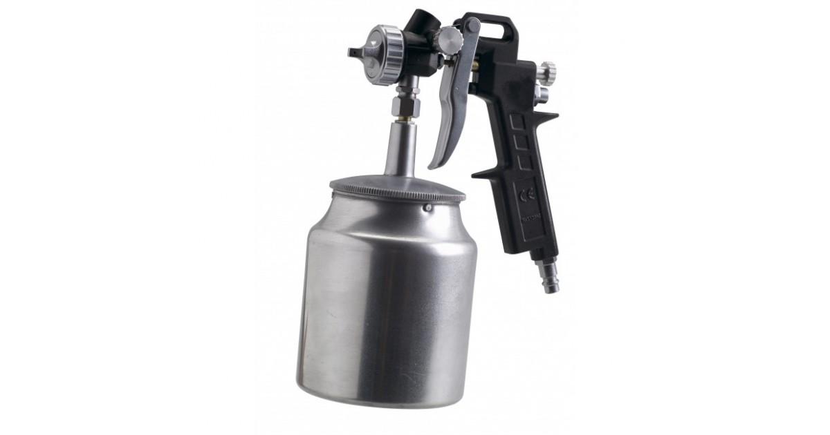 Пневматски пиштол за фарбање, долна чашка