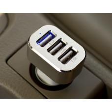 Универзален USB полнач за автомобил со 3 порти