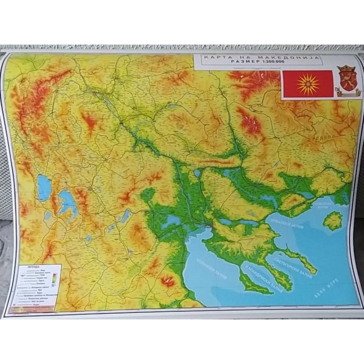 Карта на Македонија